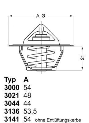 Термостат WAHLER 3021.88D50