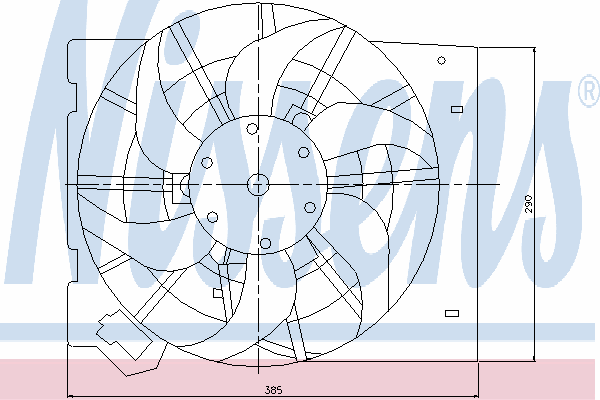 Вентилятор кондиционера NISSENS 85186
