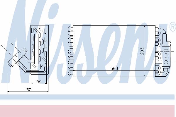 Испаритель кондиционера NISSENS 92061