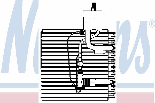Испаритель кондиционера NISSENS 92041