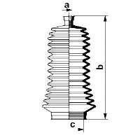 Пыльник рулевой рейки SPIDAN 83846