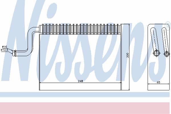 Испаритель кондиционера NISSENS 92150