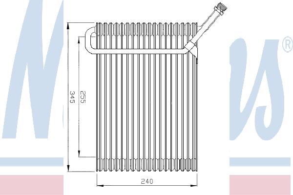 Испаритель кондиционера NISSENS 92180