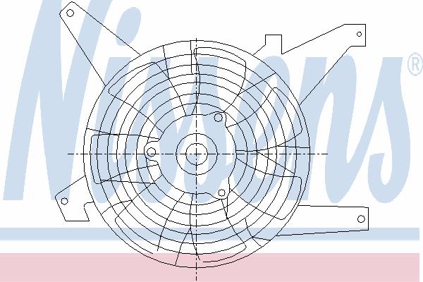 Вентилятор кондиционера NISSENS 85383