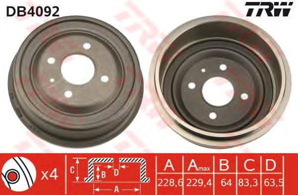 Тормозной барабан TRW DB4092