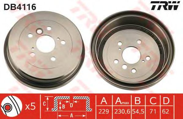 Тормозной барабан TRW DB4116