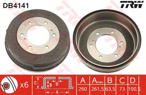 Тормозной барабан TRW DB4141