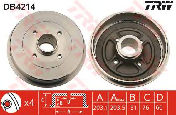 Тормозной барабан TRW DB4214