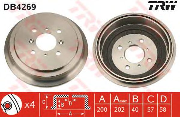 Тормозной барабан TRW DB4269