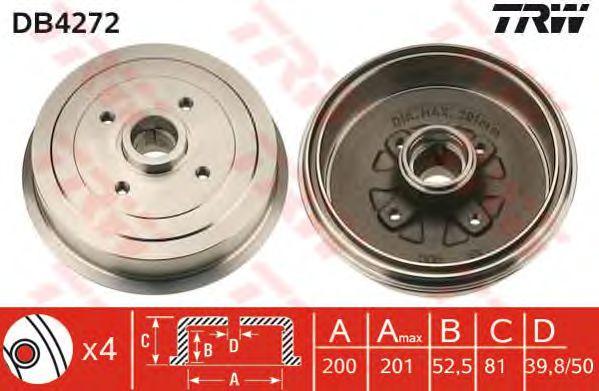 Тормозной барабан TRW DB4272