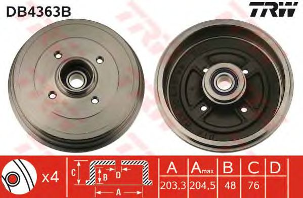 Тормозной барабан TRW DB4363B