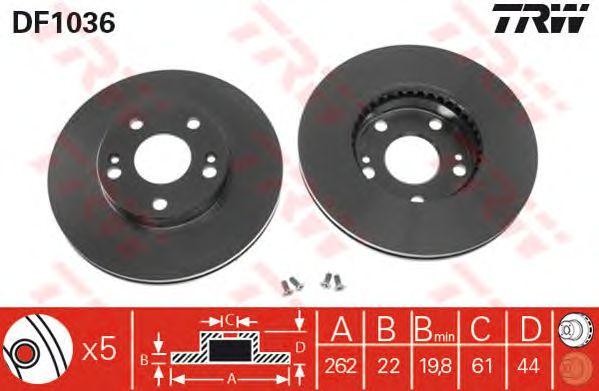 Тормозной диск TRW DF1036