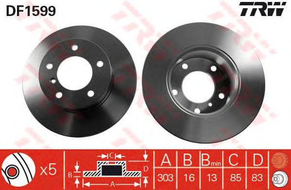 Тормозной диск TRW DF1599