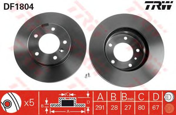 Тормозной диск TRW DF1804