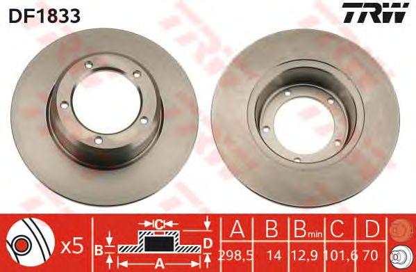 Тормозной диск TRW DF1833