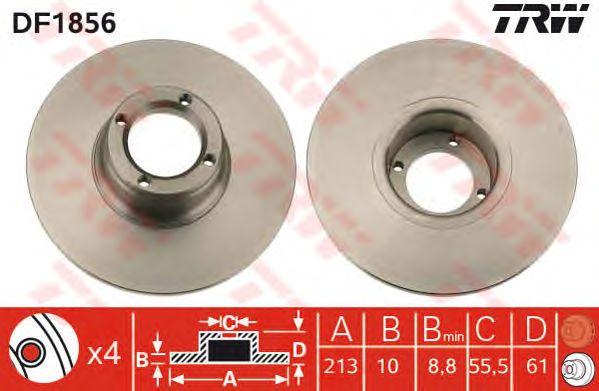 Тормозной диск TRW DF1856