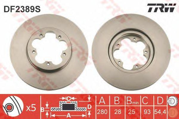 Тормозной диск TRW DF2389S