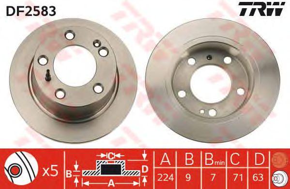 Тормозной диск TRW DF2583