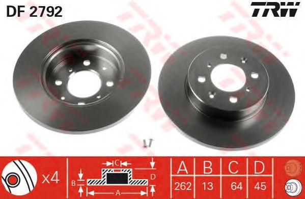 Тормозной диск TRW DF2792