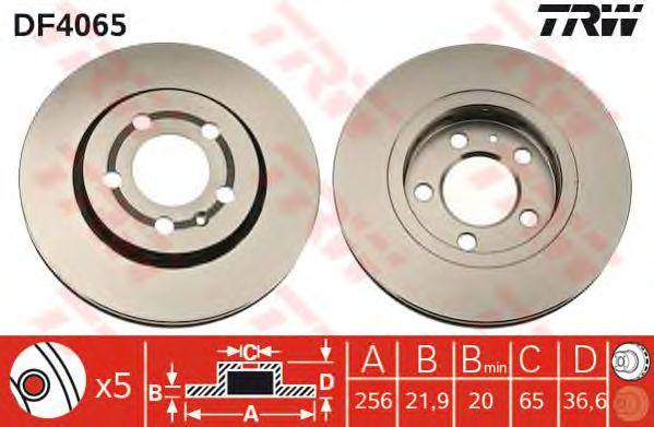 Тормозной диск TRW DF4065