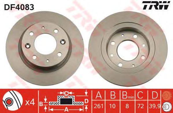 Тормозной диск TRW DF4083