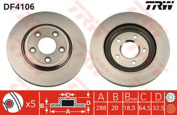 Тормозной диск TRW DF4106