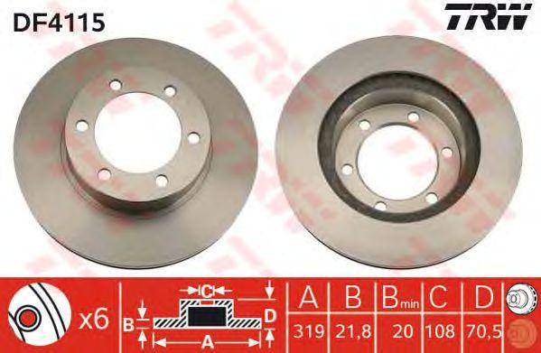 Тормозной диск TRW DF4115