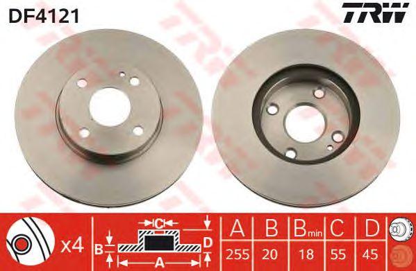 Тормозной диск TRW DF4121