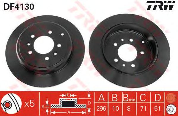 Тормозной диск TRW DF4130
