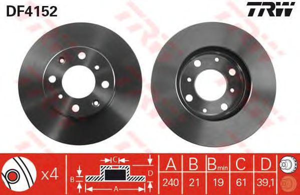 Тормозной диск TRW DF4152