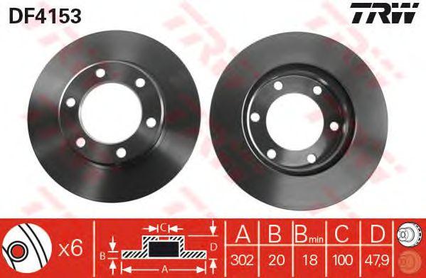 Тормозной диск TRW DF4153