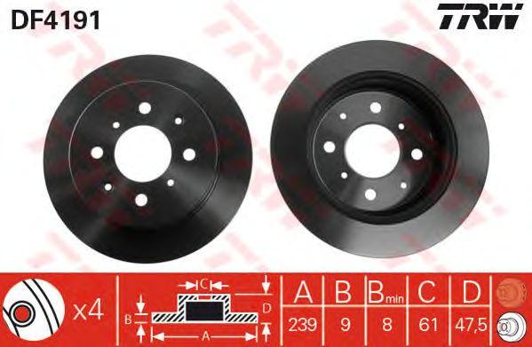 Тормозной диск TRW DF4191