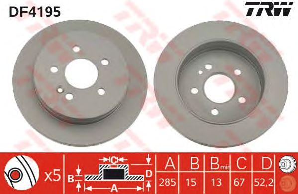 Тормозной диск TRW DF4195