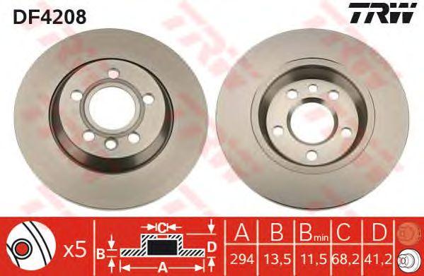 Тормозной диск TRW DF4208