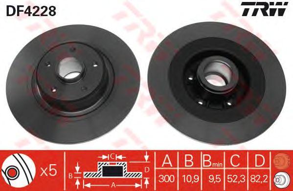 Тормозной диск TRW DF4228