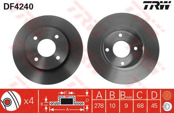 Тормозной диск TRW DF4240