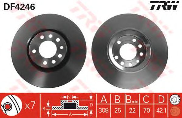 Тормозной диск TRW DF4246