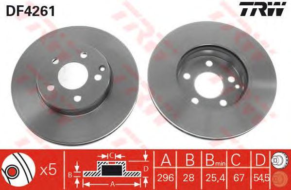Тормозной диск TRW DF4261