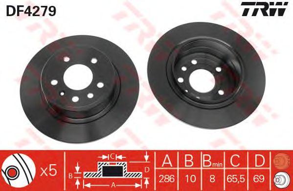 Тормозной диск TRW DF4279