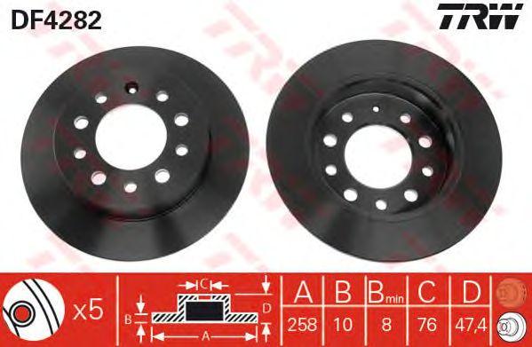 Тормозной диск TRW DF4282
