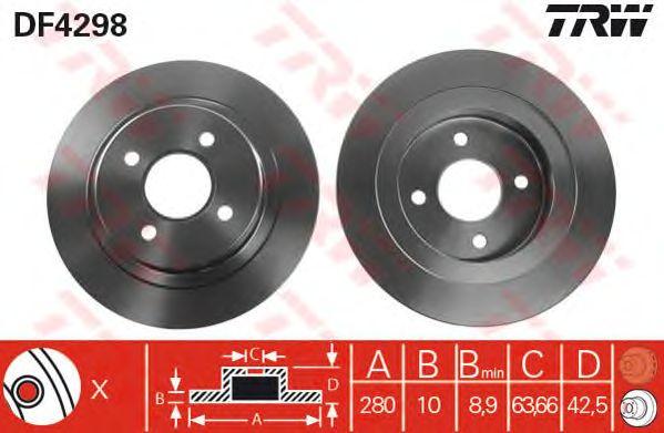 Тормозной диск TRW DF4298