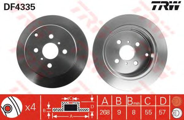 Тормозной диск TRW DF4335