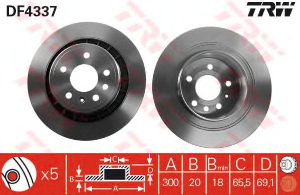 Тормозной диск TRW DF4337