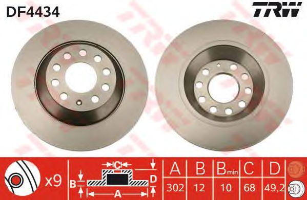 Тормозной диск TRW DF4434