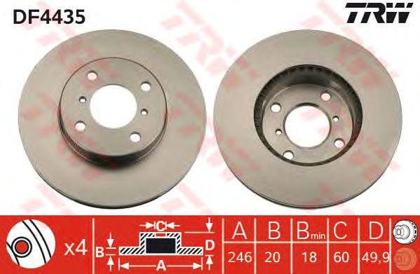 Тормозной диск TRW DF4435