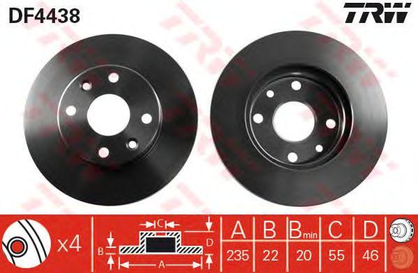 Тормозной диск TRW DF4438