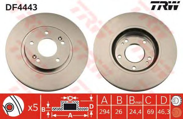 Тормозной диск TRW DF4443