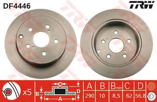 Тормозной диск TRW DF4446
