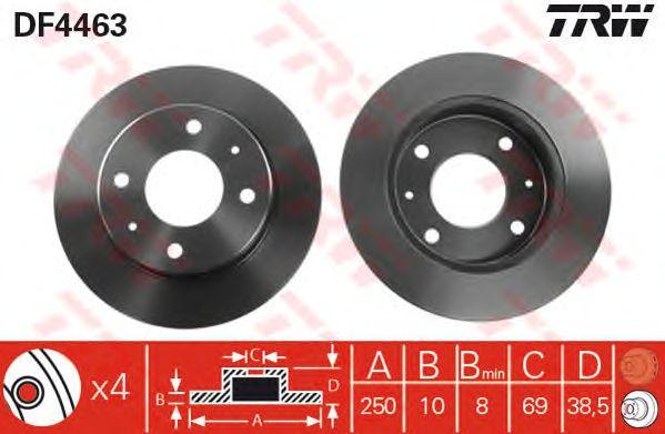 Тормозной диск TRW DF4463