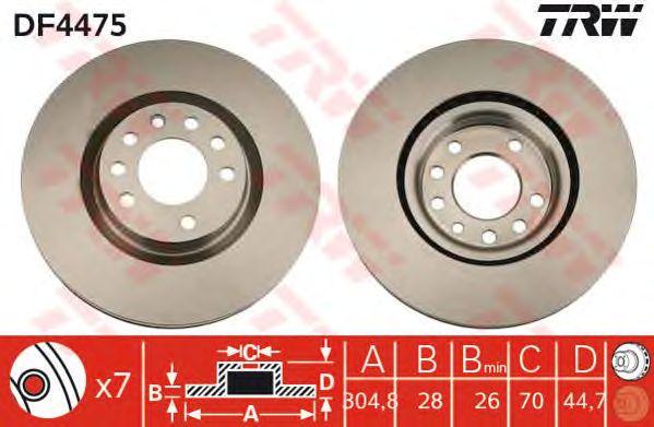 Тормозной диск TRW DF4475